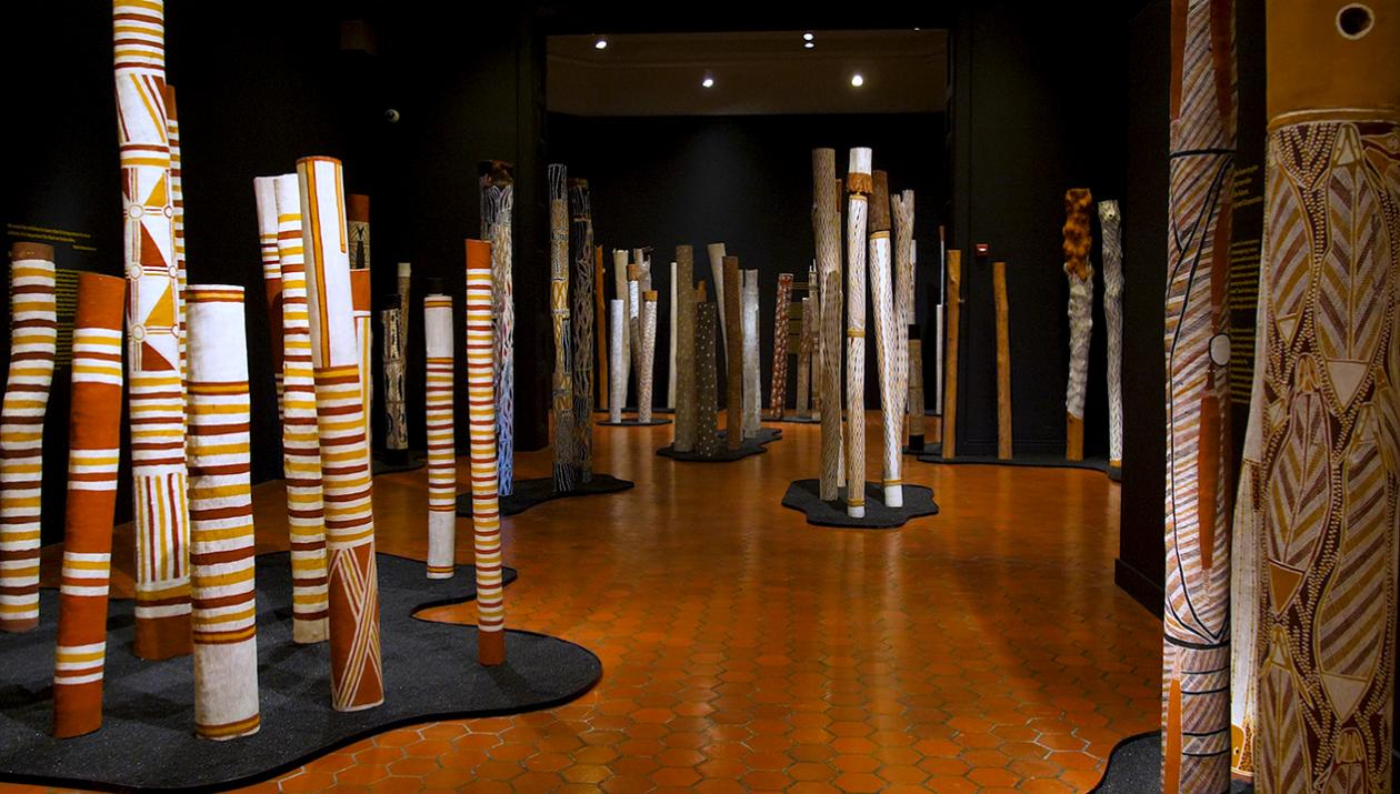Aboriginal art display